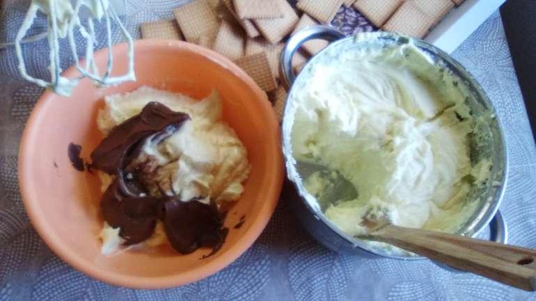 Három ízű keksz krémes