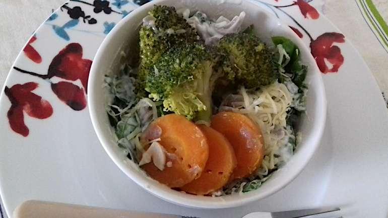 Könnyű zöldséges tészta
